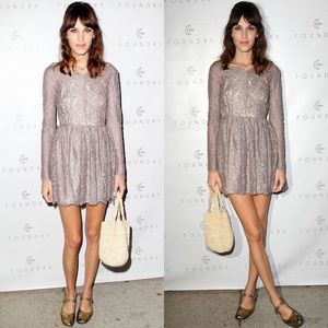 Lover The Label Millie Lace Dress US 8 Alexa Chung
